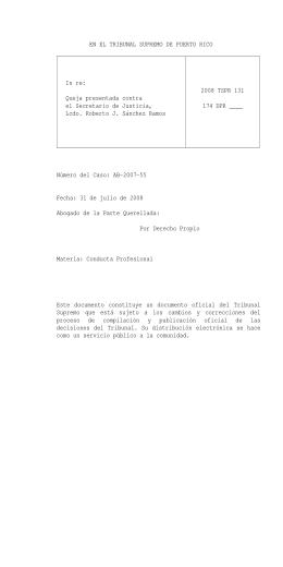 2008 TSPR 131 - Rama Judicial
