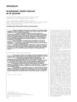 Acondroplasia: estudio molecular de 28 pacientes