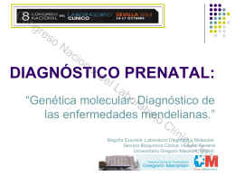 Diagnóstico de las enfermedades mendelianas.