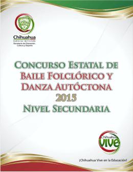 CONCURSO ESTATAL DE DANZAS SECUNDARIA 2015