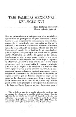 TRES FAMILIAS MEXICANAS DEL SIGLO XVI