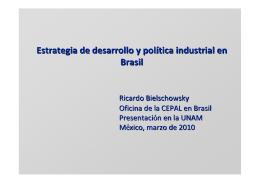 Estrategia de desarrollo y política industrial en Brasil