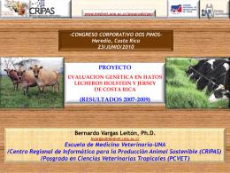 Evaluación genética en hatos lecheros Holstein y Jersey de Costa