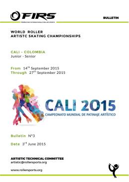 WORLD ROLLER ARTISTC SKATING CHAMPIONSHIPS CALI