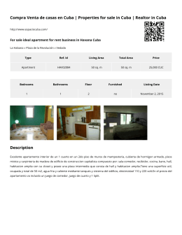 For sale ideal apartment for rent business in Havana Cuba