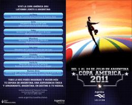 Fixture Copa America Argentina 2011