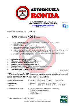 Permiso C + CAP_M - Autoescuela Ronda