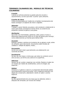 Términos Culinarios - IES Pedro Espinosa