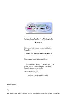 Instalación de Apache OpenMeetings 3.0.x en CentOS 7 Este