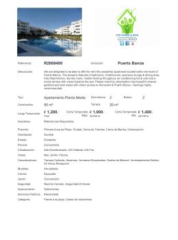 R2009400 Puerto Banús € 1,200/ € 1,000/ € 1,400/