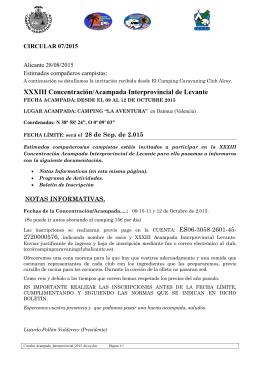 XXXIII Concentración/Acampada Interprovincial de Levante
