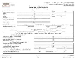 CARATULA DE EXPEDIENTE
