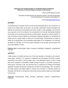 Aplicación de nanotecnología en la industria textil colombiana
