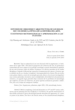 Estudios de urbanismo y arquitectura de los siglos XIX y XX desde