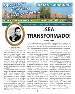 ¡SEA TRANSFORMADO! - Tony Alamo Christian Ministries