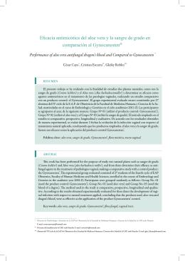 Eficacia antimicótica del aloe vera y la sangre de grado en
