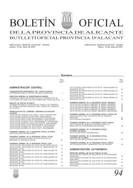 BOLETÍN OFICIAL - Diputación Provincial de Alicante