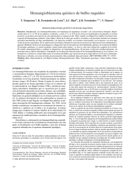 Hemangioblastoma quístico de bulbo raquídeo