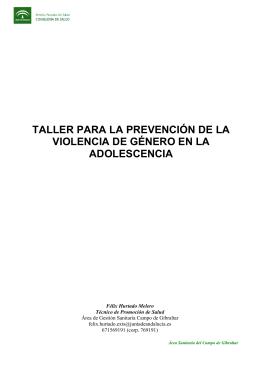 prevención violencia de genero en adolescentes