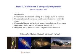 Tema 7. Colisiones o choques y dispersión - OCW-UV