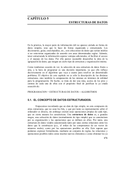 ESTRUCTURA DE DATOS.-