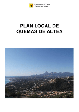 PLAN LOCAL DE QUEMAS DE ALTEA