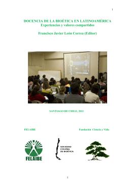 FELAIBE Docencia - Sociedad Chilena de Bioética