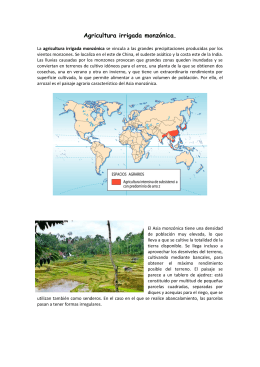 Agricultura irrigada monzónica.