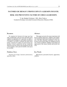 factores de riesgo y protección en agresión infantil risk and