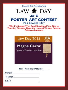 2015 POSTER ART CONTEST - Dallas Bar Association