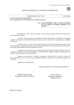 """""""B"""" 8727 - Banco Central de la República Argentina"""