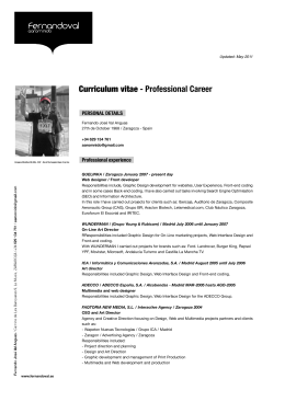 Curriculum Vitae English Version