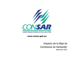 Impacto de la Baja de Comisiones de Santander