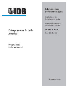 Entrepreneurs in Latin America