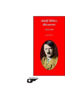 Adolf Hitler, discursos (1933-1938)