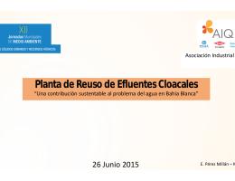 Planta de Reuso de Efluentes Cloacales