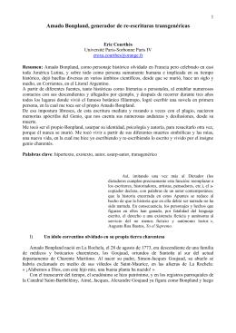 Amado Bonpland, generador de re-escrituras transgenéricas