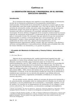 capítulo 10 la orientación escolar y profesional en el sistema