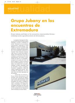 Grupo Jubany en los encuentros de Extremadura