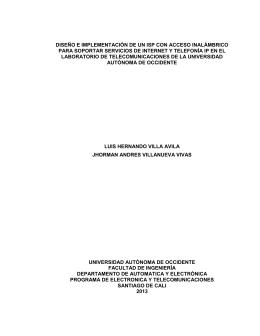 diseño e implementación de un isp con acceso inalámbrico para