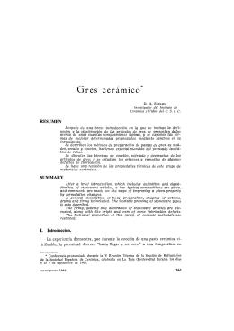 G res cerámico - Boletines Sociedad de Cerámica y Vidrio