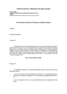 CONSTITUCIÓN DE LA REPÚBLICA ISLÁMICA DE IRÁN