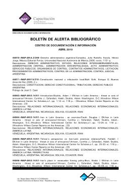boletín de alerta bibliográfico - Subsecretaría de la Gestión Pública