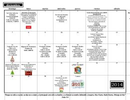 calendario men actividades diciembre