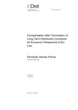 Compensation, Disgorgement, and Termination in Long-