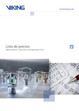 Lista de Precios (abril 2014)