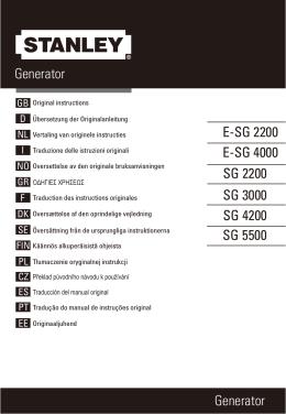 Generator Generator SG 2200 SG 3000 SG 4200