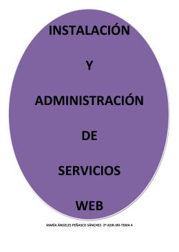 instalación y administración de servicios web