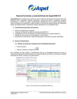 Nuevas funciones y características de Aspel