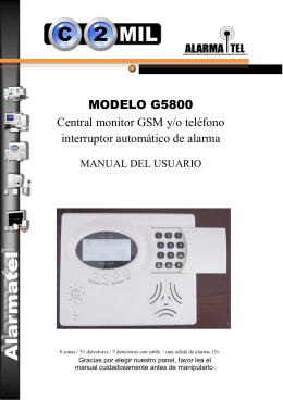 MODELO G5800 Central monitor GSM y/o teléfono interruptor